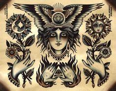 Gypsy Tattoo Flash,