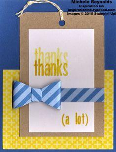 Alternate idea using Stampin' Up!'s April 2015 Paper Pumpkin Kit - Love You a Lot. By Michele Reynolds, Inspiration Ink. #stampinup #inspirationink #paperpumpkin