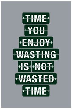Time You Enjoy Wasting is Not Wasted Time - from 55 Hi's