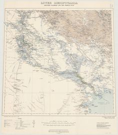 lower mesopotamia between baghdad and the persian gulf 1919