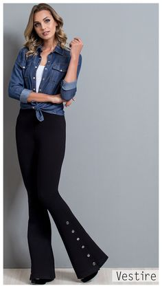 Look Book  Inverno 18. Tendencia. Denim. Vestire Jeans. Moda Feminina.  Jeans Feminino. Calça Alfaiataria 71f695029f6