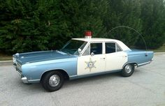 1968 Plymouth Satellite Police Car.