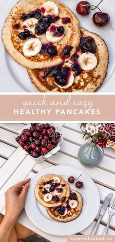 healthy pancakes pancakes recipe easy healthy pancake recipe pancake recipe easy healthy pancakes oatmeal healthy pancakes low calorie healthy pancakes easy oatmeal pancakes pancakes for one healthy breakfast breakfast ideas brunch ideas by erin elizabeth Pancakes Low Calorie, Pancake Calories, No Calorie Foods, Low Calorie Recipes, Healthy Brunch, Easy Healthy Breakfast, Breakfast Ideas, Brunch Food, Healthy Breakfasts