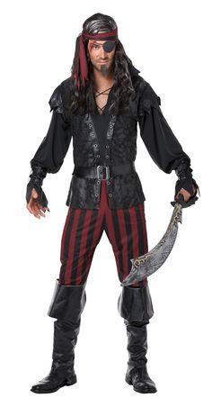 Ruthless Rogue Men Pirate Halloween Costume
