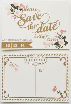 10 Unique Save The Date Ideas | Bridal Musings Wedding Blog