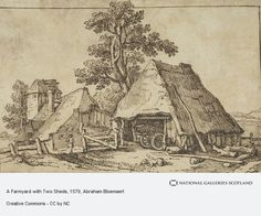 A Farmyard with Two Sheds (Estimated earliest year: 1579)