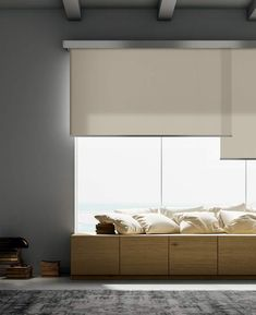 Roll Cinque is an overlapping blinds system suitable for large windows Blinds For Large Windows, Blinds For Windows Living Rooms, House Blinds, Window Blinds, Large Window Treatments, Window Treatments Living Room, Roll Blinds, Best Blinds, Ceiling Materials