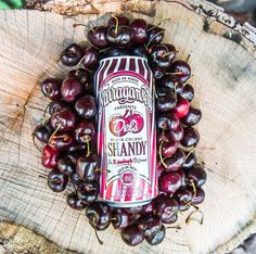 Great shot of the limited edition black cherry shandy