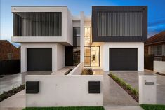 M Cubed Architects - Sydney Duplexes, Designer Houses, Townhouses - Sutherland Shire, Georges River, Bayside Row House Design, Duplex House Design, Modern House Design, Architects Sydney, Duplex Floor Plans, Modern Townhouse, Architectural House Plans, Architect House, Facade House