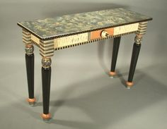 Find This Pin And More On Suzanne Fitch Console Tables. Hand Painted ...
