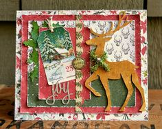 Paxton Valley Folk Art: Reindeer Joy Christmas Card