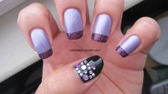 Purple and bling -- great combo