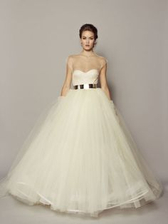Rafael Cennamo tulle wedding dress