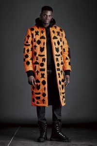 Doudoune longue noir et orange Marcelo Burlon #marceloburlon #countyofmilan #doudoune