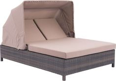 Zuo Modern 703633 Siesta Key Double Chaise Lounge Color Brown & Beige Aluminum Frame Finish