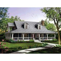 With A Full Wraparound Porch This Cozy Plan Allows All The Comfort Of Home In Smaller Square Footage Country House Is Close To What I Want
