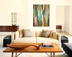 Large Acrylic Abstract Original Painting Title: by OraBirenbaumArt
