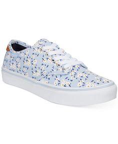 d9203b6177b Vans Women s Camden Deluxe Floral Lace-Up Sneakers Shoes - Sneakers - Macy s