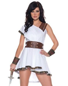 Sexy Olympia Greek Roman Warrior Goddess Adult Womens Halloween Costume S-XL | eBay