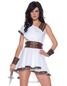 Sexy Olympia Greek Roman Warrior Goddess Adult Womens Halloween Costume S-XL | eBay