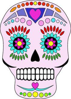 Celebrate the Day of the Dead (el Día de los Muertos) Crafts: Sugar Skull Digital Stamp
