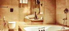 Radisson Blu Plaza Dwarka New Delhi - Such a serene look for bathroom- love the color chosen for the bathroom