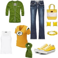 """Green Bay Packers"" by lindsayferguson-1 on Polyvore"