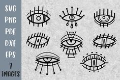 Wall Art Designs, Design Art, Tooth Tattoo, Project Abstract, Graphic Eyes, Eye Illustration, Line Art Tattoos, Eye Painting, Painted Clothes