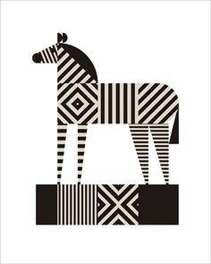 Zebra Stripe Mural - Greg Mably  Murals Your Way