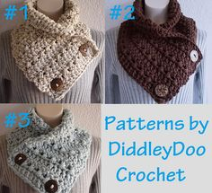 Ravelry: Crochet Cowl/Neckwarmer with Buttons pattern by Jenn Hammon