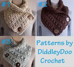 Ravelry: Crochet Cowl/Neckwarmer with Buttons pattern by Jenn Hammon