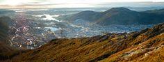 The mountain city of Bergen, Norway [5399x2058] [OC]