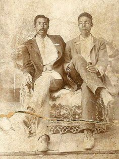 Buck Franklin (1879-1960) and brother Matthew Franklin. Americans with Chickasaw and African heritage.  Buck Franklin became a lawyer, notably defending survivors of the Tulsa Riots (Oklahoma) in 1921, which had resulted in the murder of 300 Americans with African ancestry.