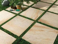 Pavimento per esterni in gres porcellanato a tutta massa effetto pietra STONE D Quarzite dorada by Italgraniti