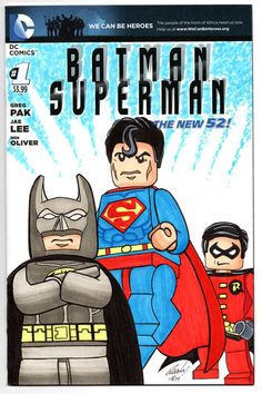 You know you want this.  Auction ends tomorrow. Batman Superman #1 Blank Variant Sketch Cover Orginal Art by Rodney Fyke