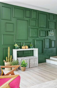 How to Paint an Easy Living Room Accent Wall with Frames for TextureModern Cool Ways to Paint Walls 2018 Wall decor living room Wallpaper accent wall Wood accent wall Accent walls in living room Wood accent wall bedroom Bathroom accent wall Green Accent Walls, Accent Wall Colors, Accent Walls In Living Room, Accent Wall Bedroom, Living Room Green, Living Room Paint, Living Room Decor, Bedroom Green, Accent Wall Designs