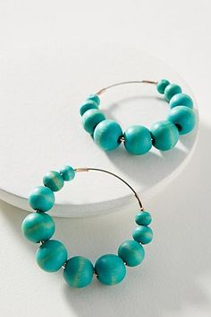 Coastal Beaded Hoop...