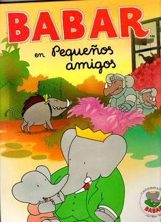 """Escardó i Bas, Mercè traducció i adaptació del francès  al castellà i català. """"Pequeños amigos""""  Barcelona, Beascoa,1990. col: Las aventuras de Babar"""