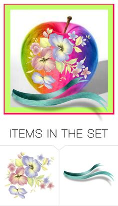 """""""Colors Apple"""" by ragnh-mjos ❤ liked on Polyvore featuring art, colors, apple and appleart"""