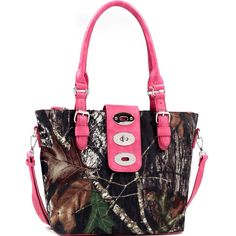 All Things Country LLC Mossy Oak Adjustable Twist Lock Tote Bag Tote With Adjustable Removable Shoulder