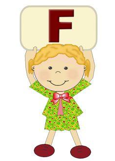 """Alfabeto meninas """"F"""""""