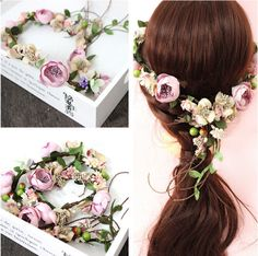 Flower Crown for Melbourne Cup 2017 https://theboulevards.net/product/flower-crown-headband/