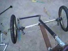Sistema de dirección de auto a pedales. solución en el auto de mi nieto