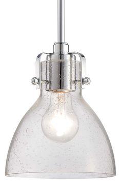 """Minka Lavery 2244-77 1 Light 8"""" Height Indoor Mini Pendant in Chrome  in Chrome Full Size"""