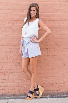 8315abf42526 This shorts are perfectly preppy chic! You are going to love how the fabric  mimics