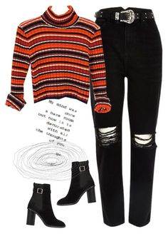 """t h o u g h t s o f y o u ♡"" by anothering ❤ liked on Polyvore featuring River Island, rag & bone, Fall and stripes"