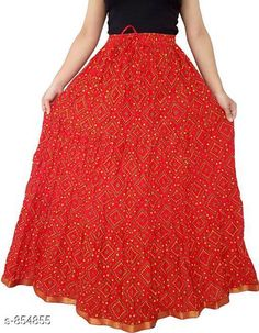 Ethnic Bottomwear - Skirts Stylish Cotton Women's Long Skirt Fabric: Cotton Waist Size: Up To 26 in To 40 in ( Free Size) Length: Up To 39 To 40 in Type: Stitched Description: It Has 1 Piece Of Women's Long Skirt Work: Printed  Country of Origin: India Sizes Available: Free Size, 26, 28, 30, 32, 34, 36, 38, 40   Catalog Rating: ★4 (1814)  Catalog Name: Ladies Cotton Printed Long Skirts Vol 15 CatalogID_99049 C74-SC1013 Code: 913-854855-657