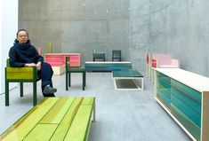 Japanese architect Jo Nagasaka has developed a range of resin and wood furniture for Established & Sons.