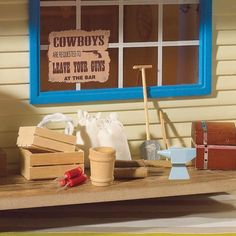 Rustic Outdoor Accessories from The Dolls House Emporium