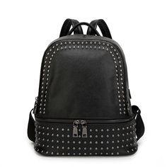 Zipper Rivet Backpack
